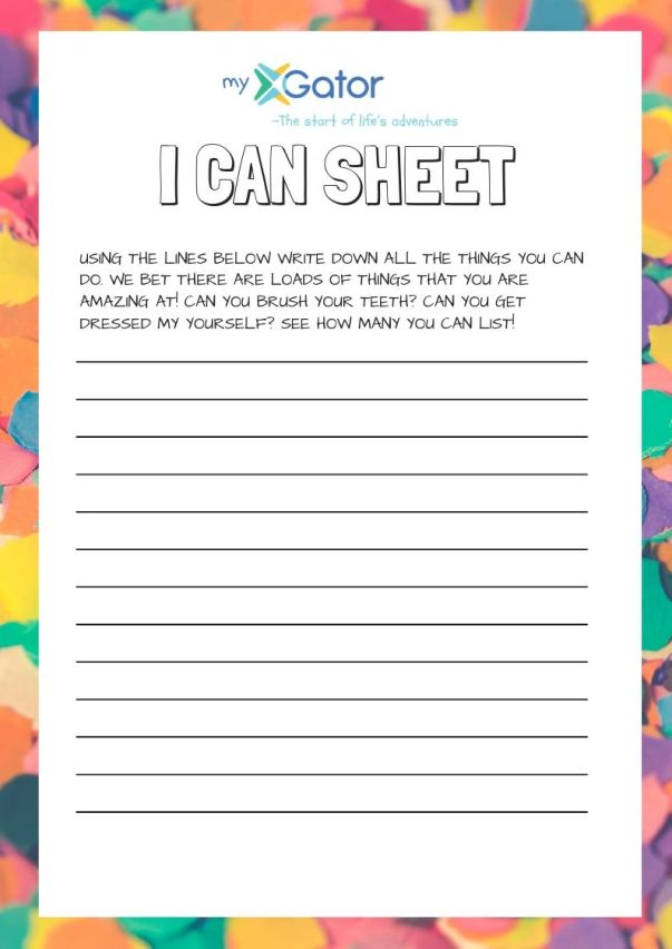 Colorful International Writing Prompt Worksheet